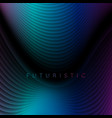 dark blue and purple refracted waves abstract tech vector image vector image