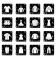 Different clothes icons set vector image vector image
