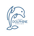 dolphine logo template nautical design element vector image vector image