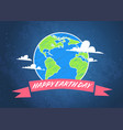 earth day poster design save planet concept vector image vector image