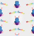 easter bunny with egg seamless vector image vector image