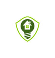 eco home shield bulb vector image vector image