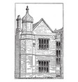 elizabethan architecture hargrave hall in england vector image vector image