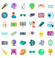 eyesight icons set cartoon style vector image vector image