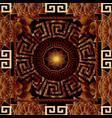floral greek 3d seamless pattern meander vector image