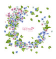 flying flowers vector image vector image