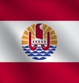 French Polynesia flag vector image vector image