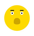 frightened smiley icon vector image vector image