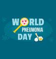 global pneumonia day banner horizontal flat style vector image vector image