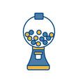 gumball machine icon vector image vector image