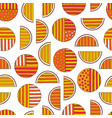 hand drawn abstract oranges seamless pattern vector image vector image