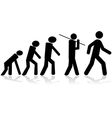 Human evolution vector image vector image