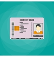 Identification card with barcode electronic chip vector image vector image