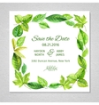Invitation to the wedding Frame of watercolor vector image vector image