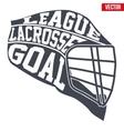 Lacrosse helmet with typography vector image vector image