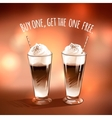 Latte vector image