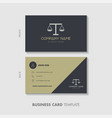 lawyer business card template design vector image