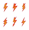 lightning colored silhouettes on white background vector image vector image