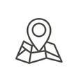 map point icon outline pin line road symb vector image