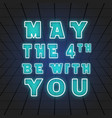 may the 4th be with you vector image