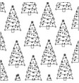 monochrome background with pattern of christmas vector image