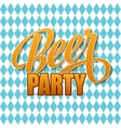 Oktoberfest vintage poster Beer festival vector image