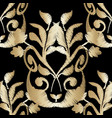 ornate embroidery gold baroque 3d seamless vector image vector image