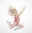 Paint splatter dancing girl vector | Price: 1 Credit (USD $1)