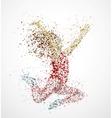 Paint Splatter Dancing girl vector image vector image