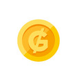 paraguayan guarani currency symbol on gold coin vector image vector image