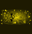 pattern of golden black plants and saffron grass vector image vector image