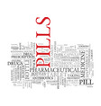 pill word cloud concept vector image vector image