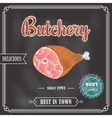 Poster meat chalkboard vector image vector image