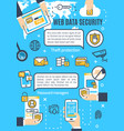 poster of web data and internet security vector image vector image