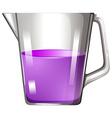 Purple liquid in beaker vector image vector image