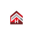 real estate initial h vector image vector image
