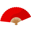 Red folding fan vector image vector image