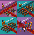 religion and people isometric design concept vector image vector image