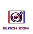 retro music icon flat vector image