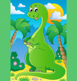 scene with dinosaur 2 vector image vector image