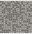 Seamless Black and White Circles Rounded vector image