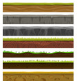 seamless grounds soil and grass for ui game vector image