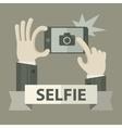 Selfie phonein grey vector image vector image