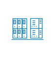 server room linear icon concept server room line vector image
