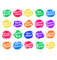 set of labels for food vector image vector image