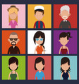 set people community meeting vector image vector image