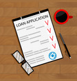 sign contract bank loan vector image vector image