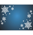 Snowflake background vector image vector image
