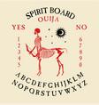 spirit board ouija with skeletons vector image