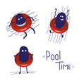 swimming pool hand draw character vector image